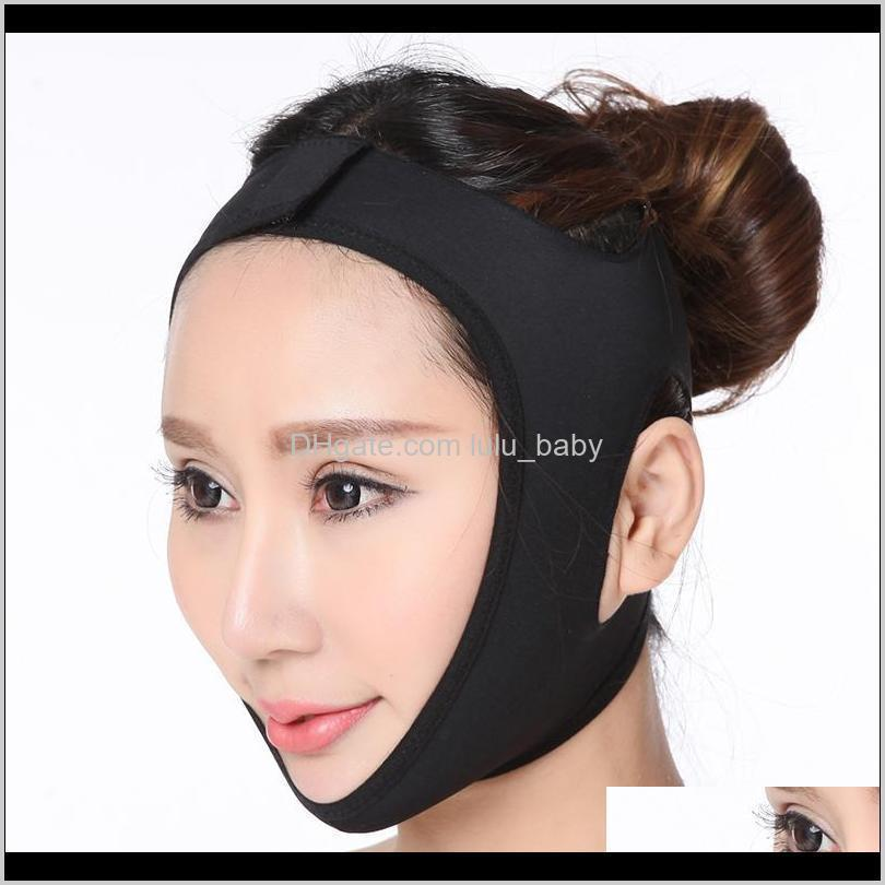 face v shaper facial slimming bandage relaxation lift up belt shape lift reduce double chin face thining band massage hot sale 666