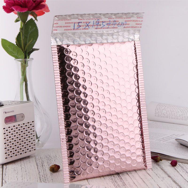 Rose Gold Bubble Envelope Package Bag Rose Gold Foil Shockproof Bubble Mailer Gift Packaging Wedding Favor Bag Multisize