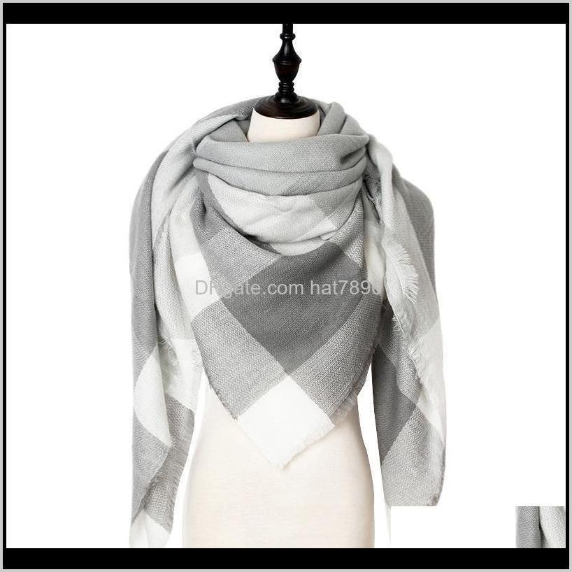 Designer Winter Women Scarf Plaid Warm Cashmere Scarves Shawls Female Scarf Lady Blanket Wraps 2020