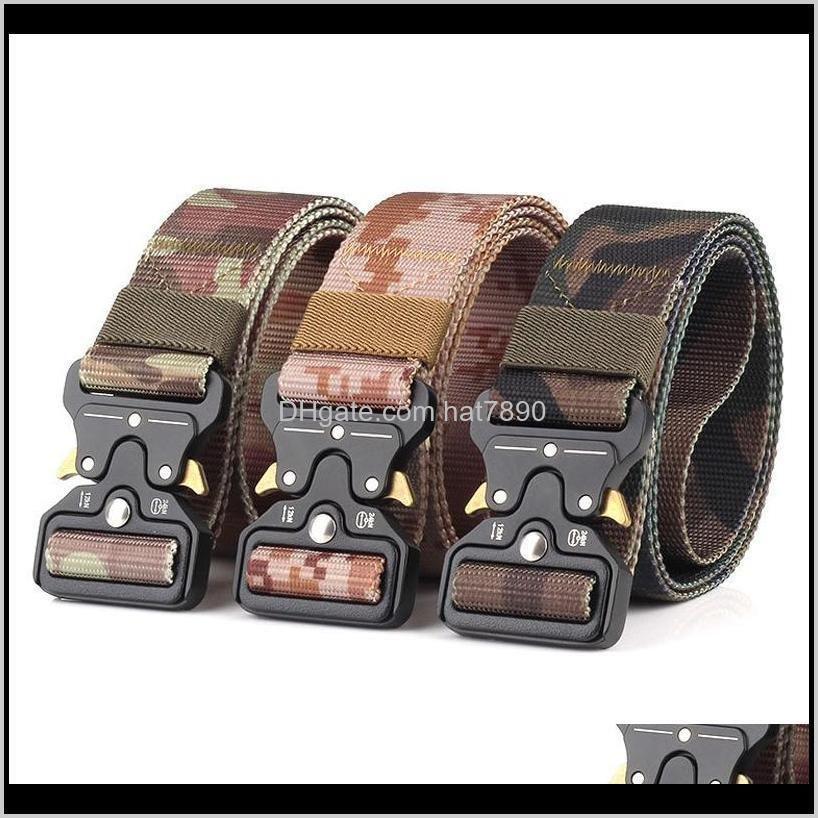 Fashion Belt Tactical Belts Nylon men belt Heavy Duty Metal Buckle Adjustable Military Army belt outdoor Quick Release Jeans strap541