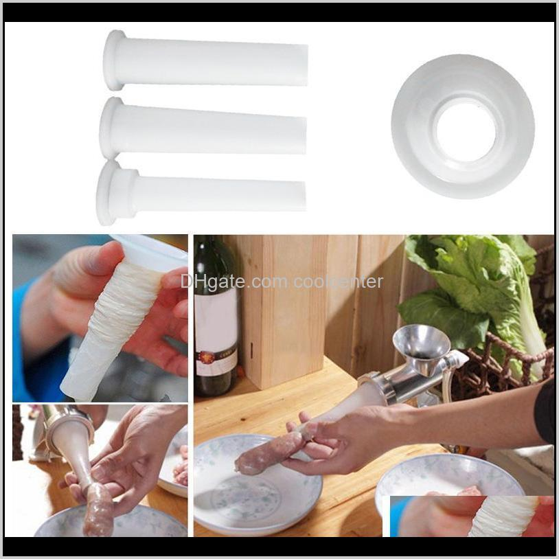 3 pieces/set of meat grinder sausage enema tube diy sausage making funnel with 1 nozzle with 5.7cm basic kitchen tool
