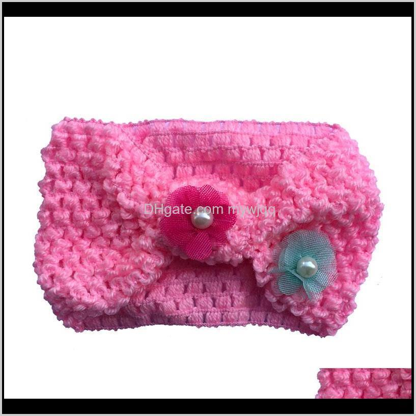 baby girl turban knot headband crochet flower headbands hairbands for girls party gift hair accessories boutique supply