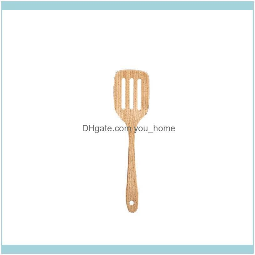 Non Stick Pot Wooden Spatula Heat Resistant Long Handle Spoon Wooden Spoon Household Kitchen Products T500683