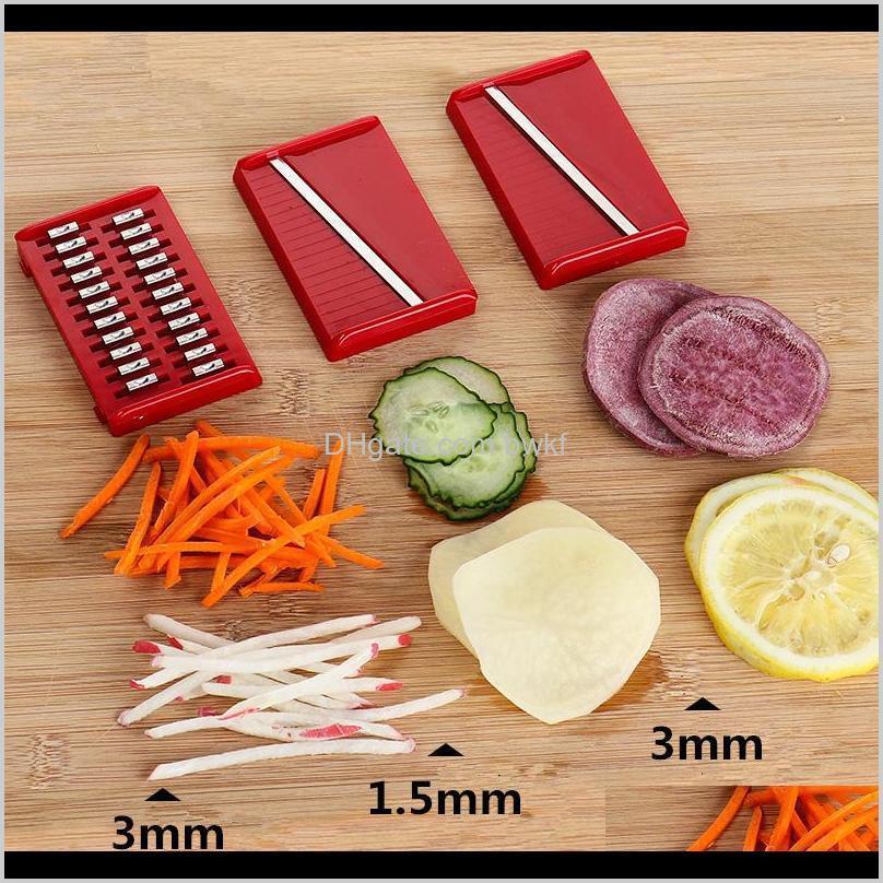 lmetjma creative magnetic mandoline slicer 3 in 1 stainless steel vegetable slicer with finger fruit julienne slicer kc0099 201201