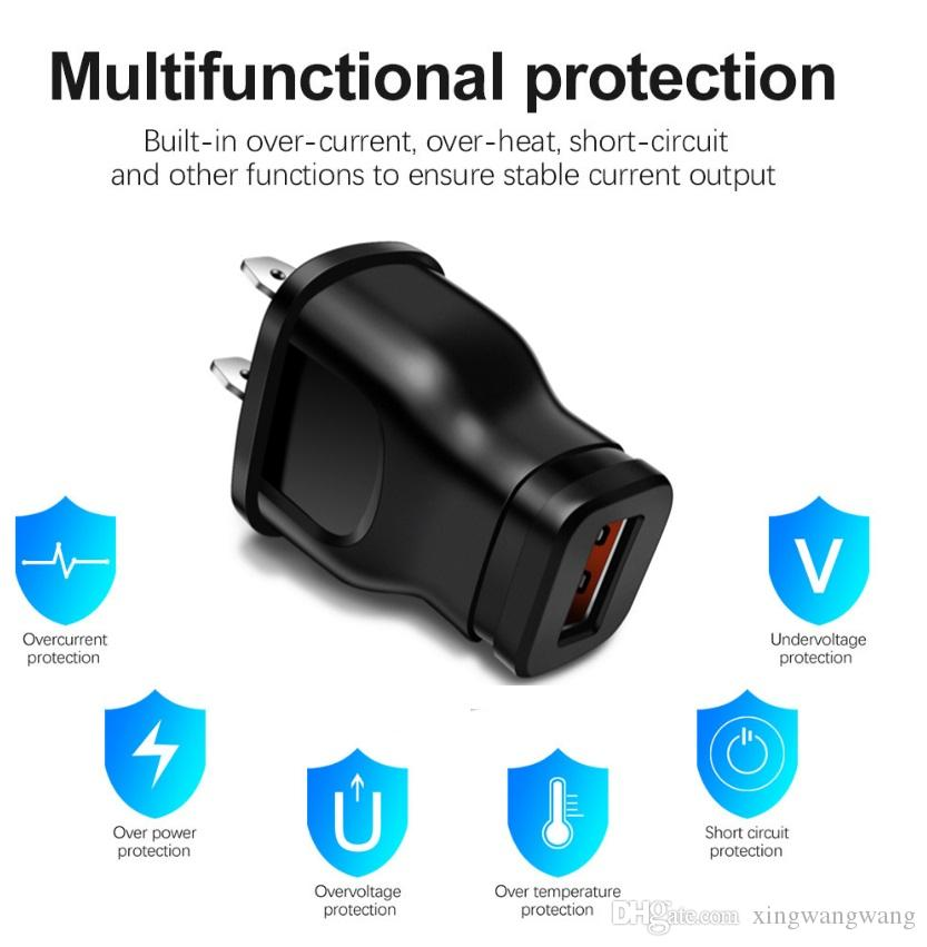 5V 1A الولايات المتحدة الأمريكية العالمي USB شاحن محول المكونات لمختلف شاحن الهاتف المحمول