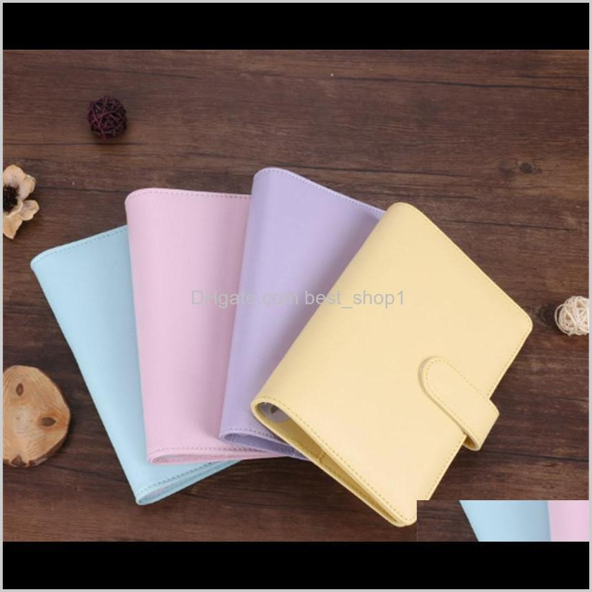 pu leather a6 notebook cover binder diary schedule book planner diary loose-leaf binder cute school supplies a03