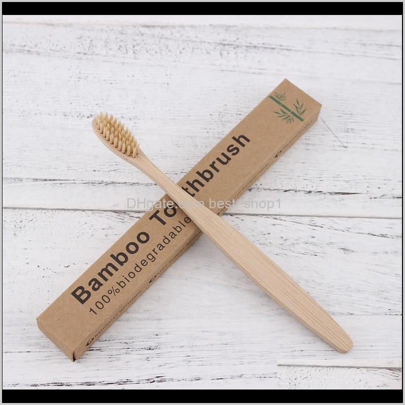 wooden toothbrush environmental protection natural bamboo toothbrush oral care soft bristle for home or hotel with box shipping