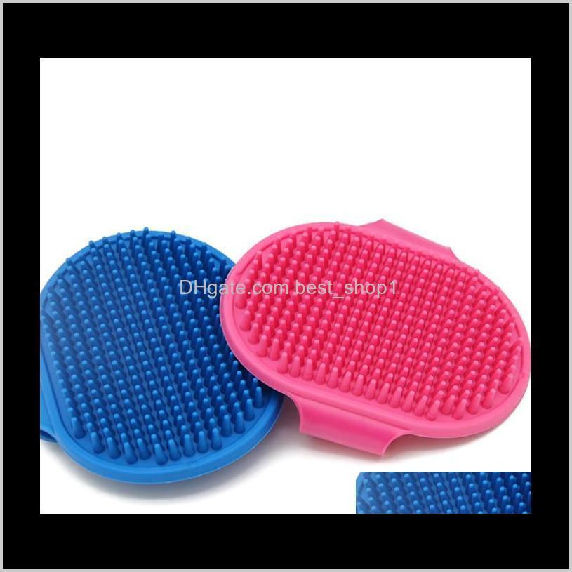 dog bath brush comb silicone pet spa shampoo massage brush shower hair removal comb for pet cleaning grooming tool ewa2634