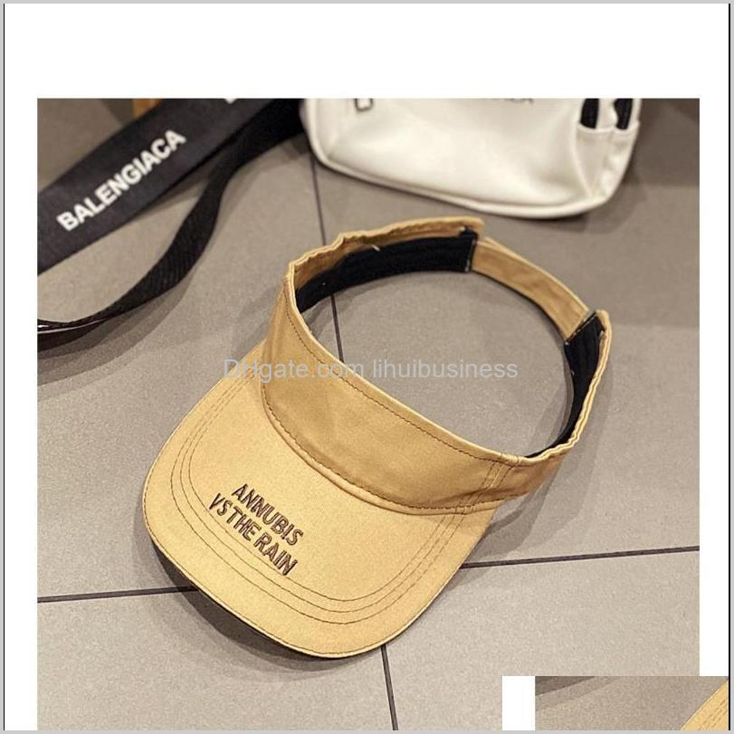 summer sky top women`s sun hat cotton outdoor sports fashion all-match three colors mz-210 wide brim hats