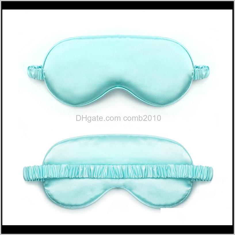 women imitated silk sleep eye mask portable travel eyepatch nap eye patch rest blindfold eye cover sleeping mask night eyeshade 10pcs