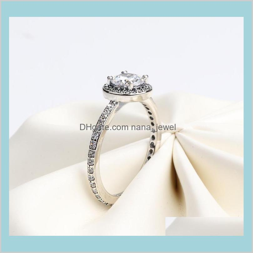 authentic 925 sterling silver cz diamond