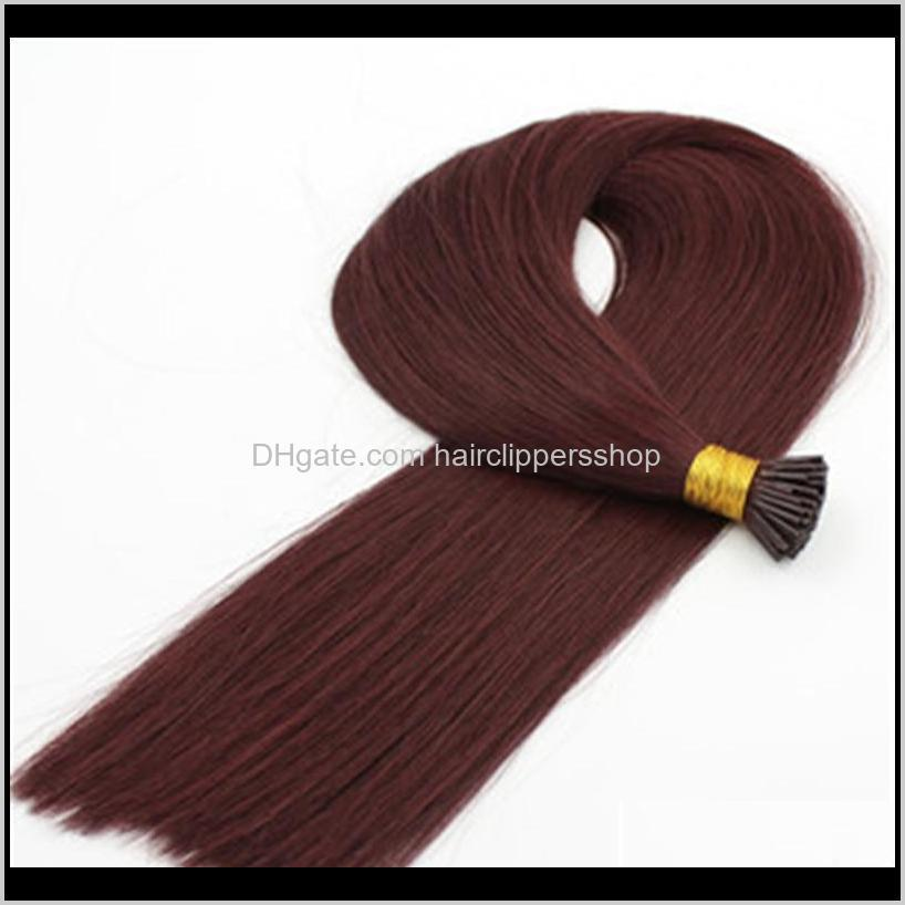 pure color 1# 99j red 613# natural color for option 1gr st & 200g lot remy brazilian human hair i-tip full set prebonded hair