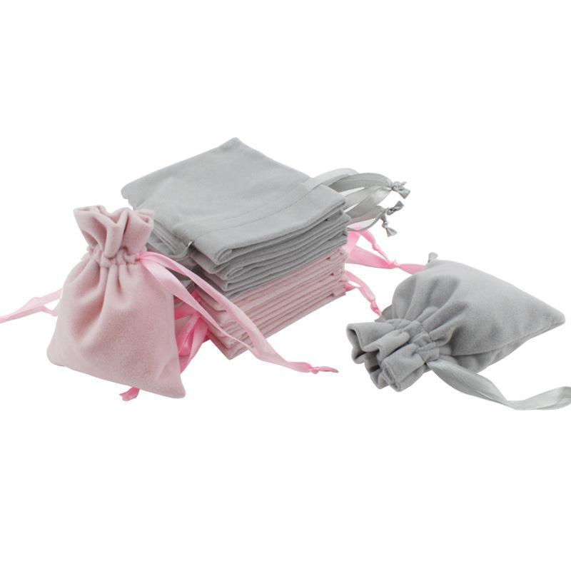 Velvet Jewelry Gift Bags With Cord Drawstring Dust Proof Jewellery Cosmetic Storage Crafts Packaging Pouches For Boutique Retail Shop