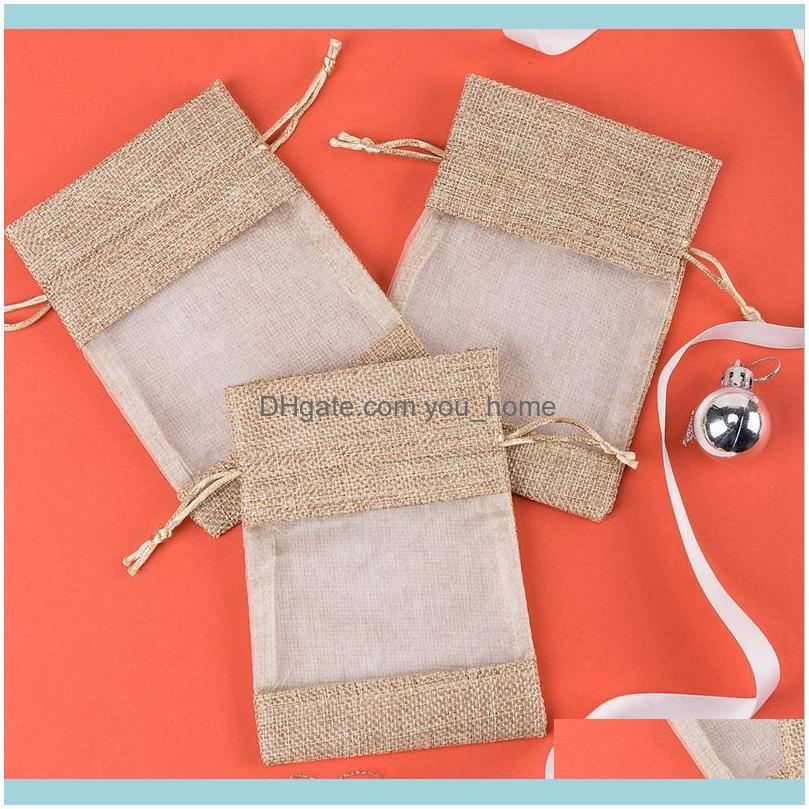 One-Sided Organza Wedding Reception Welcome Gift Bag with Drawstring, 50 Jute Bags, Gift Bag, Suitable As a Gift, Small Party Gi