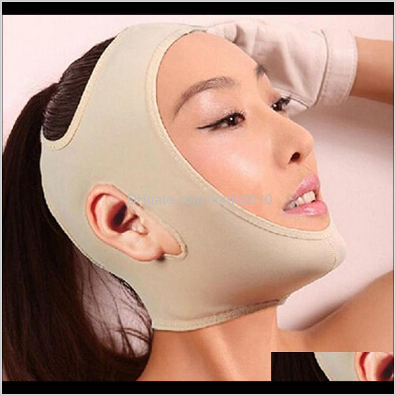 face v shaper facial slimming bandage relaxation lift up belt shape lift reduce double chin face thining band massage hot sale 0026