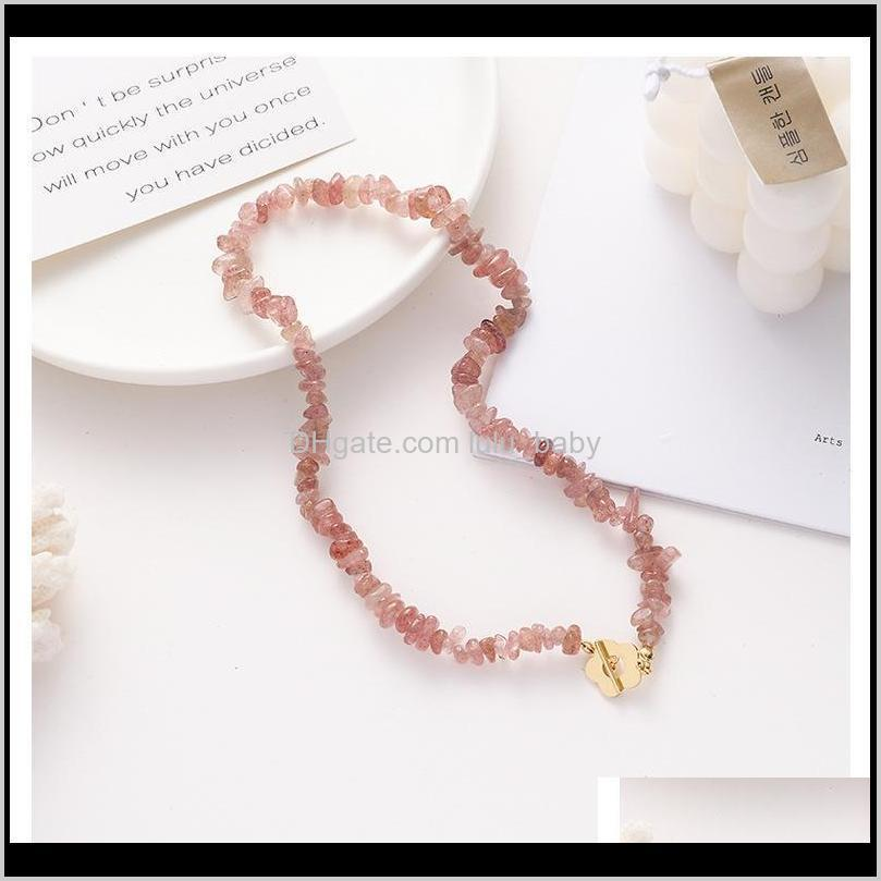 women fashion bracelet necklaces 2020 new strawberry crystal beading sweet elegant pendant chokers necklaces statement jewelry