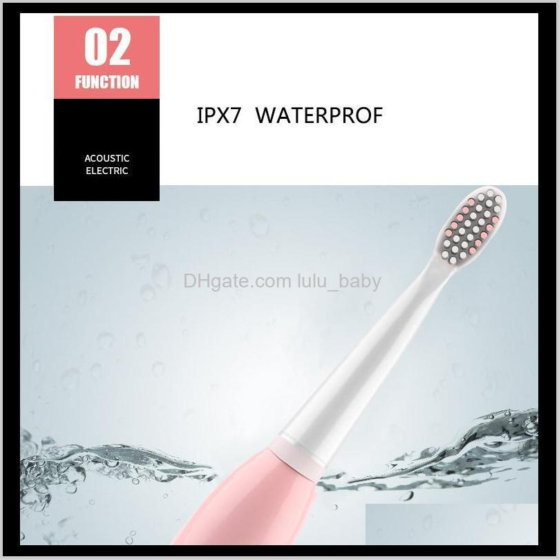 electric toothbrush with 4 replacement brush heads 5 modes ipx7 waterproof sonic teeth oral hygiene brush pink blue