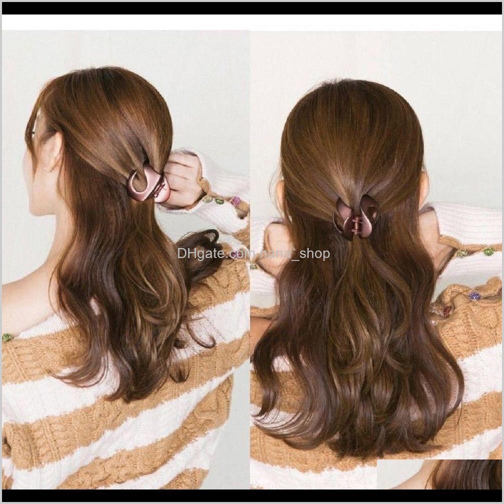 2021 fashion fashion korean style women lady hair clips barrette hair accessories claw clamp hairpin girls solid color hair crab