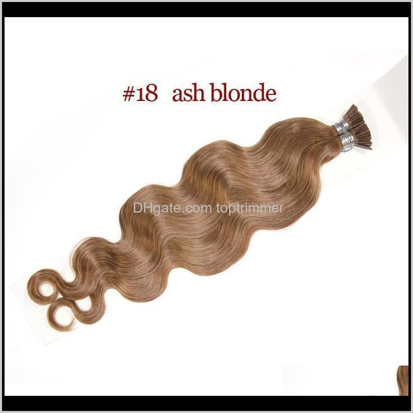 grade 10a--double drawn body i tip in hair extension 100% human hair 1g per strand and 200s per lot/200g,