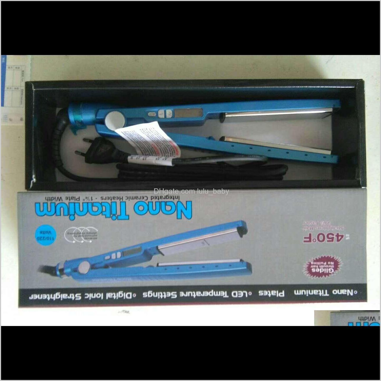 hot blue pro 450f plate digital lonic titanium hair straightener straightening irons flat iron hair curler with eu us plug