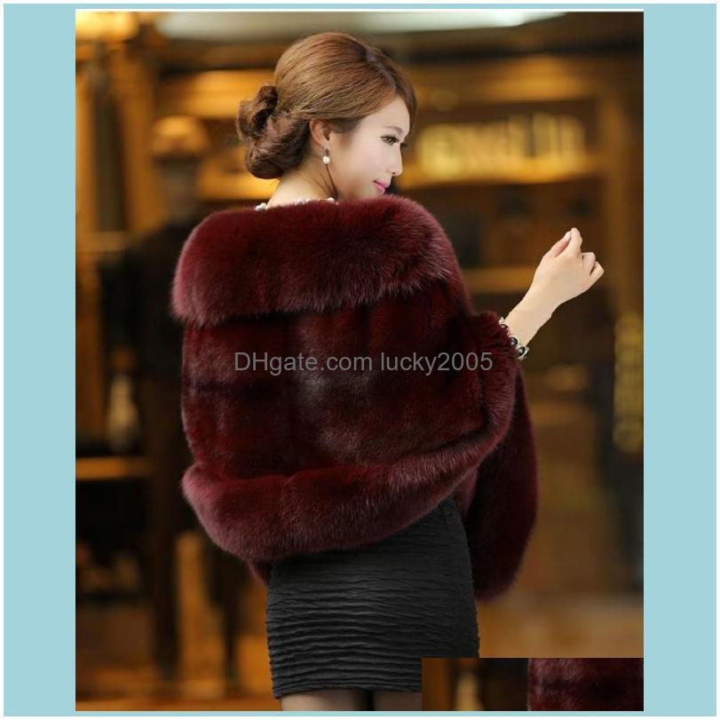 white bridal wraps winter wedding coat soft faux fur warm shawls outerwear black gary burgundy white red women jacket prom evening