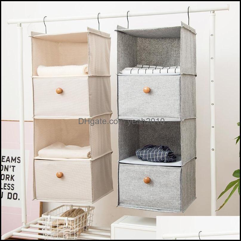 Storage Boxes & Bins Household Layered Hanging Clothing Organizers Wardrobe Case Holder Underwear Bra Towels Supplies Closet Supplies1