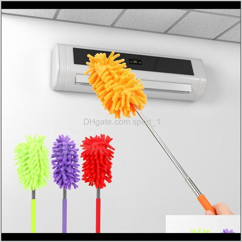 chenille dusters scalable microfiber telescopic cleaning brush chenille soft desktop household cars cleaning tool 6 color hha1028