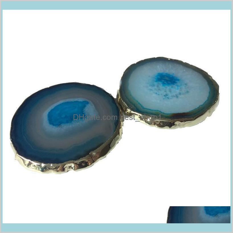 Agate coaster teacup tray decorative design
