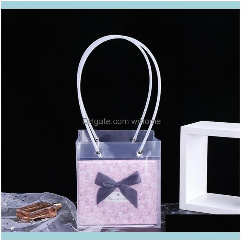 PP Transparent Square Plastic Bag Fresh