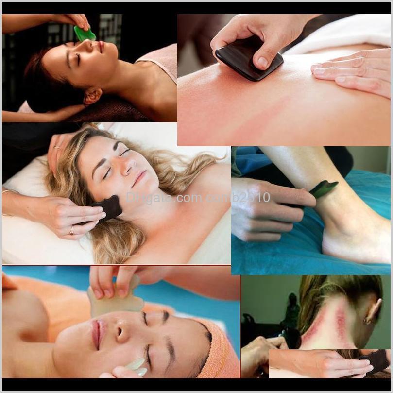 rose quartz jade guasha board pink natural stone scraper chinese gua sha tools for face neck back body acupuncture pressure therapy
