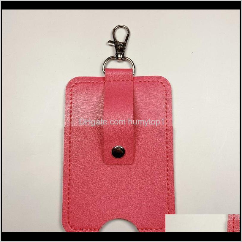 portable sleeves holster empty fashion cover button hand sanitizer holder keychains pendant small storage bags perfume bottle 5 21cc