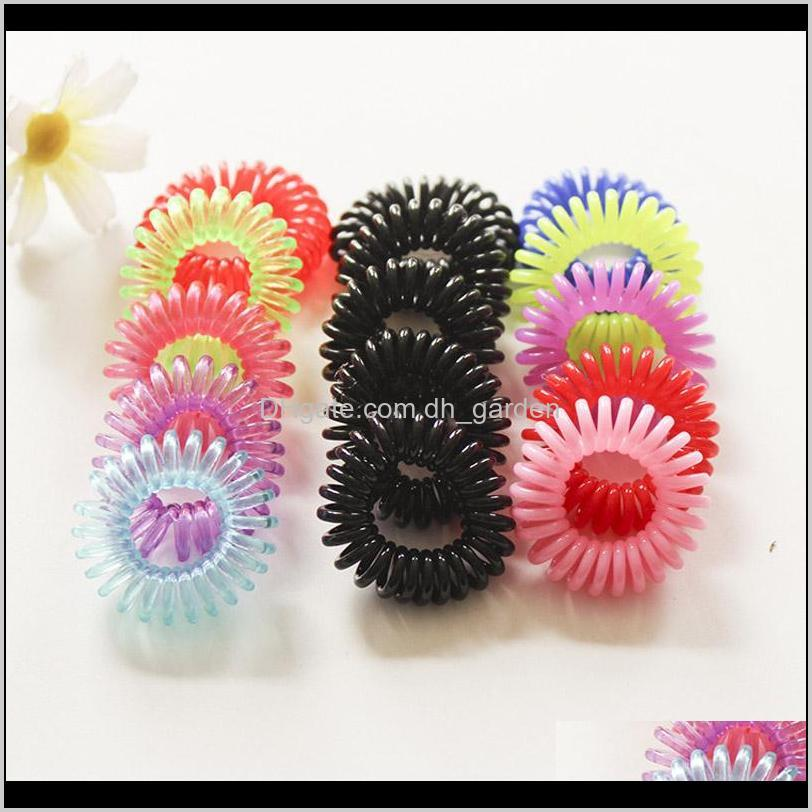 fashion telephone line elastic hair bands spring rubber hair rope ties hair ring women pony tails holder ps0849