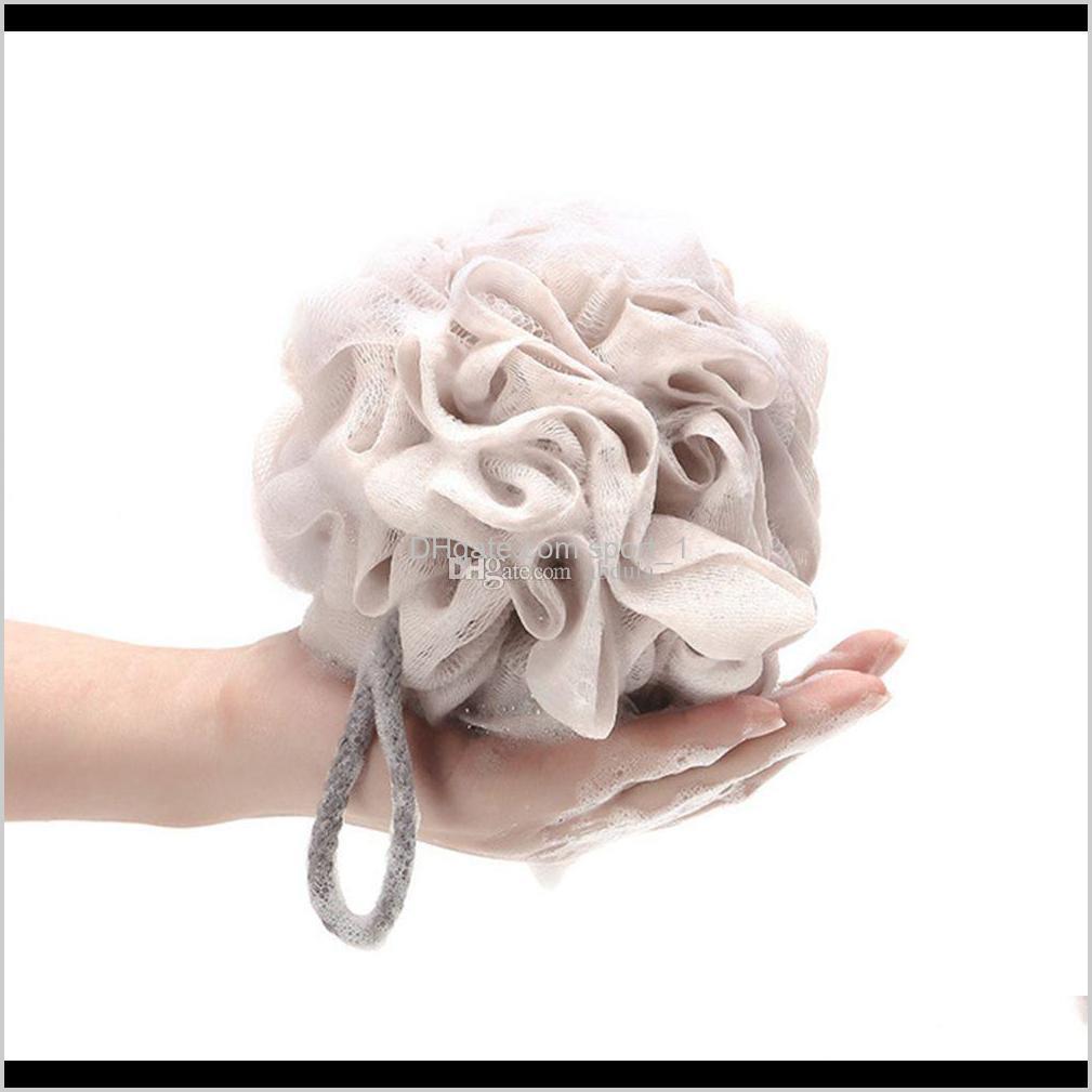 100pcs multi colors 15g bath shower sponge pouf loofahs nylon mesh brush shower ball lace edge mesh bath