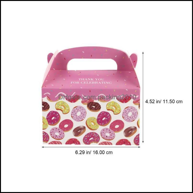 12Pcs Donuts Gift Box Giving Paper Empty Birthday Cake Container Wrap