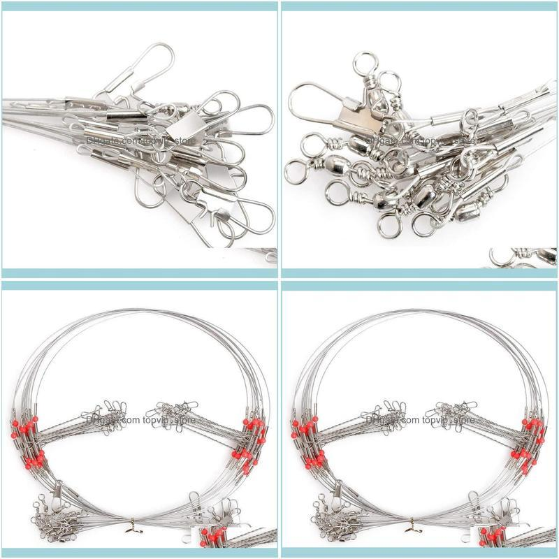 10Pcs High Carbon Steel Wire Trace Leader Rig Fishing Hooks Rigs Finder Saltwater