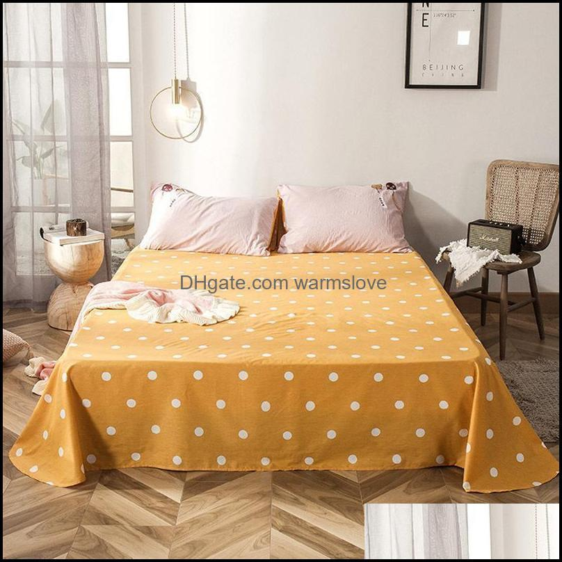 Sheets & Sets 100% Cotton Carrot Print Flat Sheet For Children Adults Single Double Bed Bedsheets (No Case) XF743-10