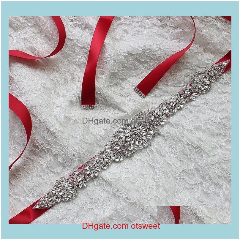 Belts Luxury Rhinestone Belt Bride Wedding Dress Party Bridesmaid Po Woman For Casual Designer