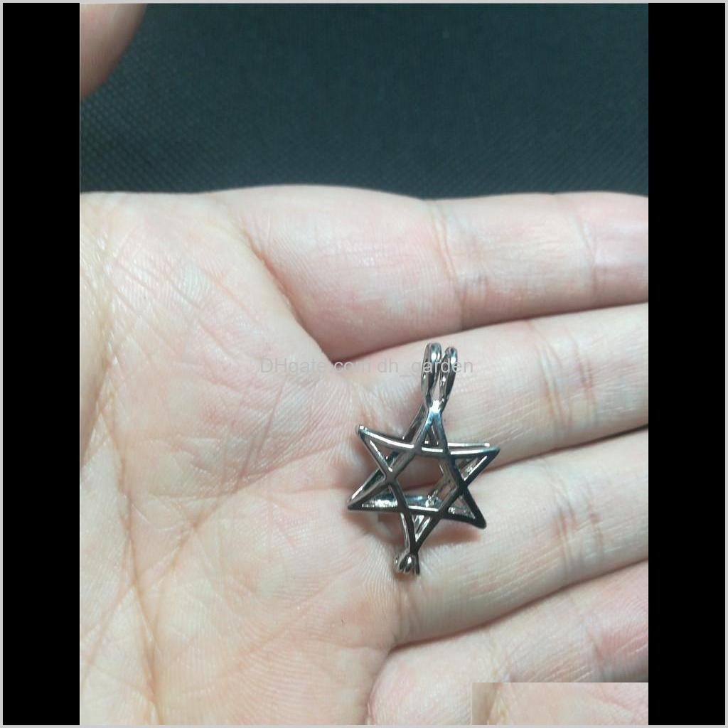 75 styles in stock 18kgp fashion love wish pearl/ gem beads locket cages pendants, diy pearl necklace charm pendants mountings