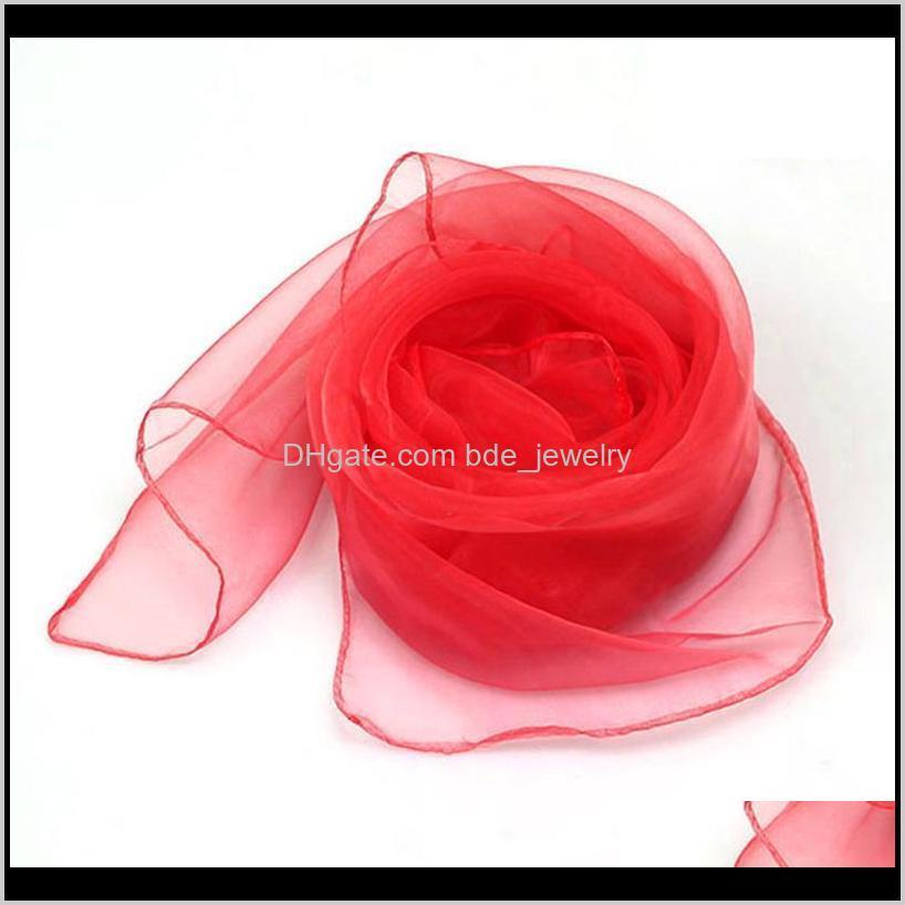 20pcs/pack square kids dance belly silk for baby dress up juggling scarves magic tricks children early education performance toy