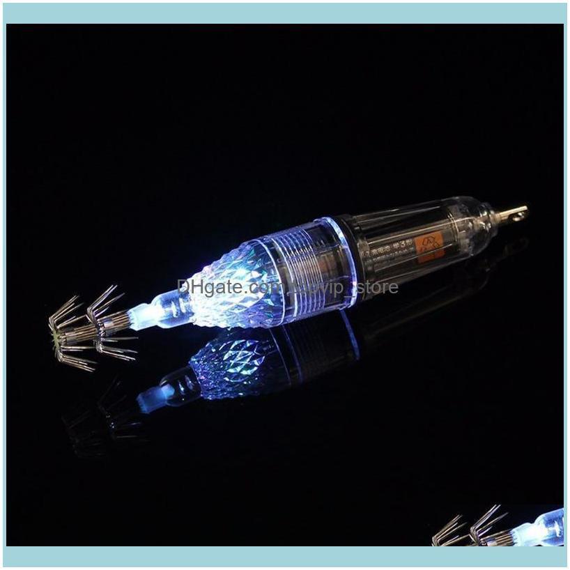 Light Underwater Double Layers Umbrella Squid Lure Lamp Fishing Jigging Hook G32E Hooks