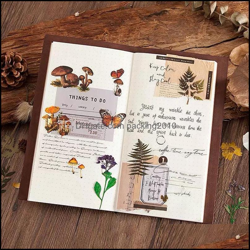 2021 New Creative Junk Journal Flowers Dairy Flake PET Sticker Pack DIY Craft Photo Card Making Label Sticker1