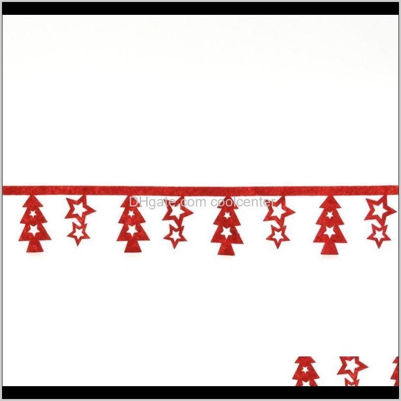10m polyester red christmas ribbon with small christmas tree festive party supplies