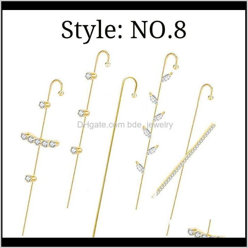 2021 fashion ear crawler earrings ear cuff wrap hook earrings decorations for women ll@17