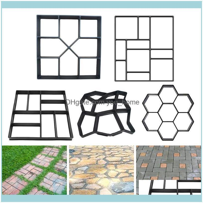 Paving Mould Black PP Plastic For Home Garden Floor Road Making Concrete Stepping Driveway Stone Path Mold Patio Maker Decorations