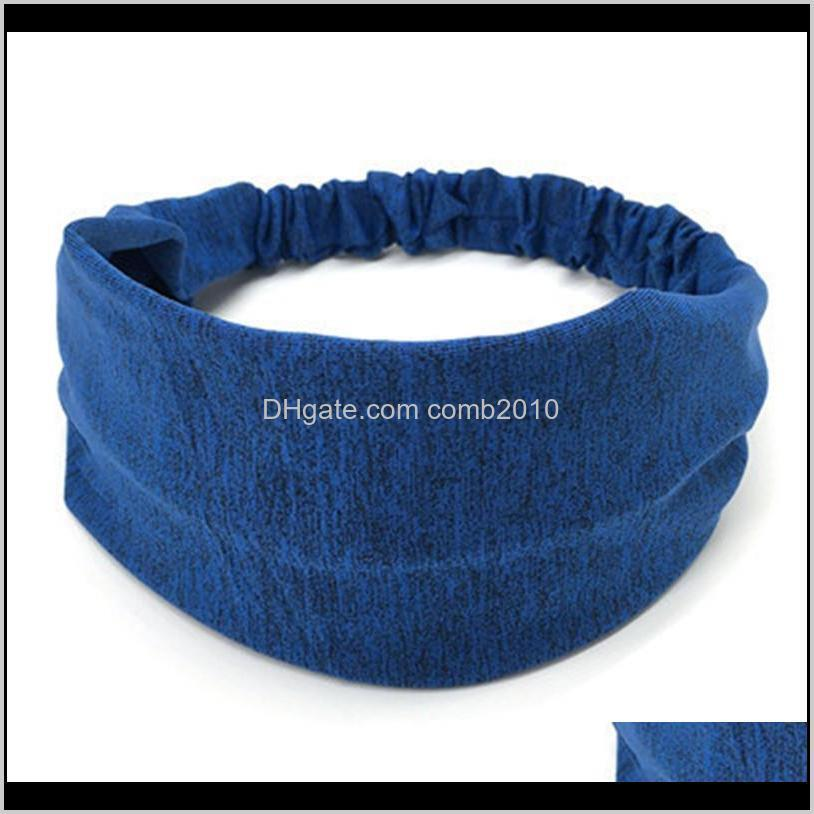 sweatband for men women elastic sport hairbands head band yoga headbands headwear headwrap sports hair accessories safety band 50pcs
