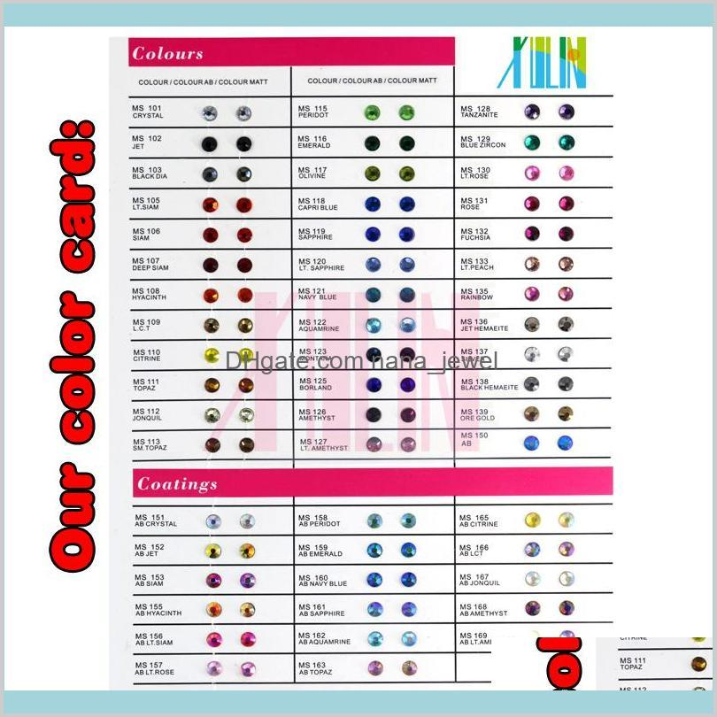top quantity ss3-ss30 crystal siam color