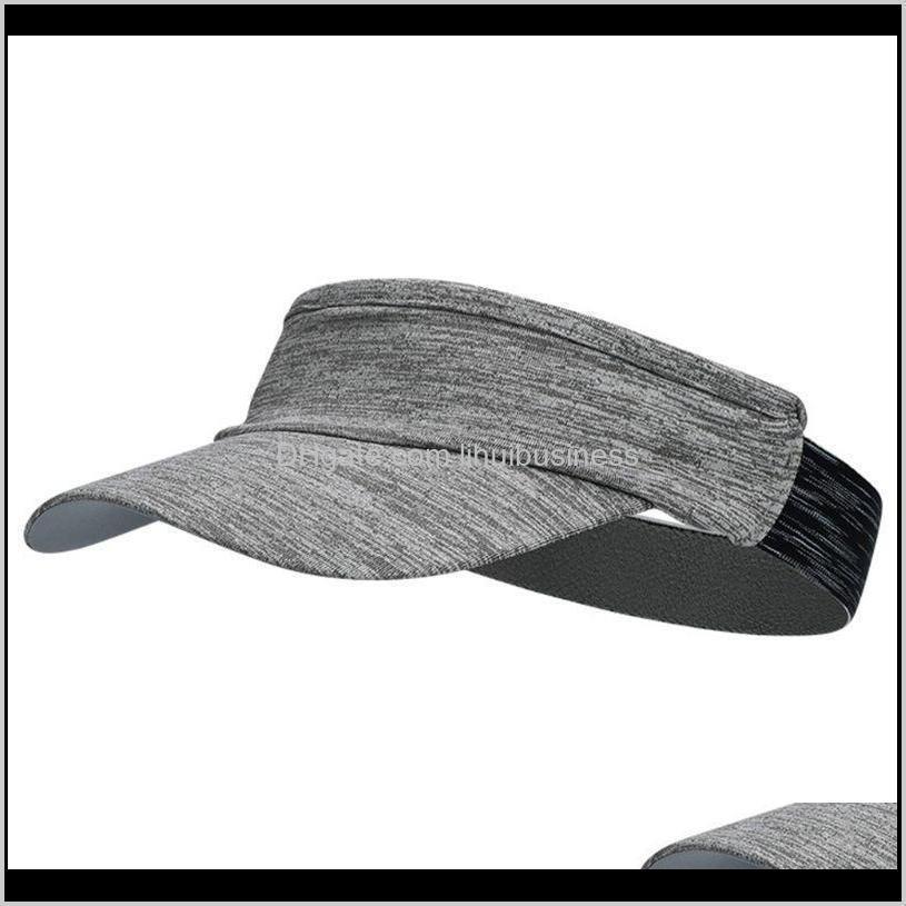 unisex outdoor running visor cap multicolored headband empty top sports sun hat lx9e