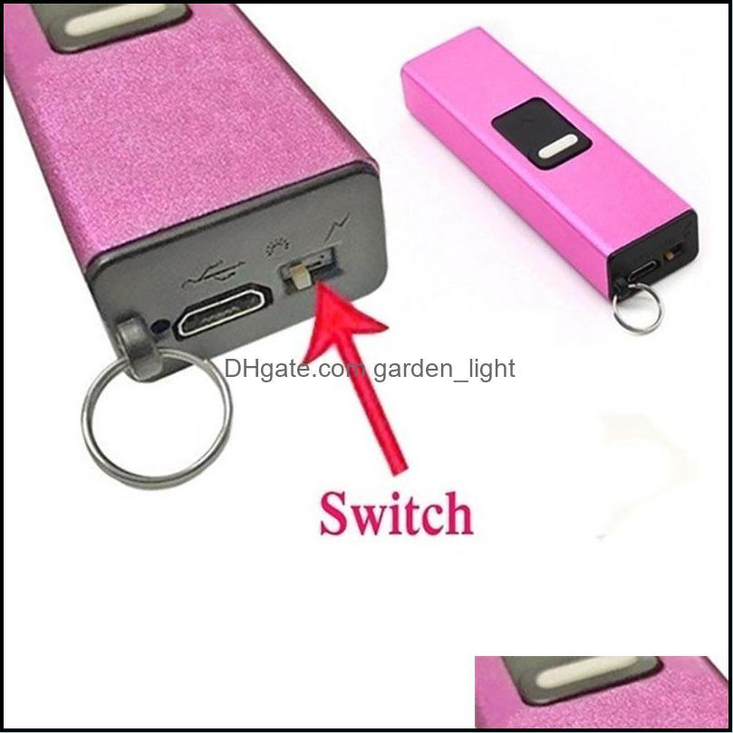 Flashlights Mini Portable Electric Shocks Key Light Self Defense High Concealment Shocker Protect Yourself LLD6483