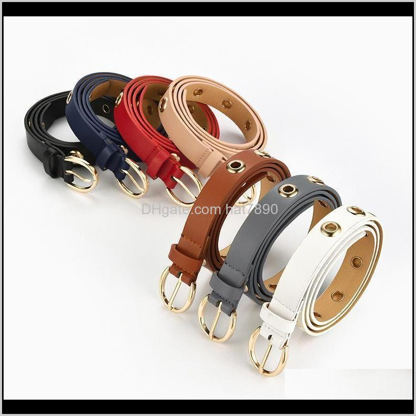 Lady Alloy Pin Buckle Leather Belt Solid Color Waist Belts Women Slim Casual Waistband For Dress Punk Belts For Pants