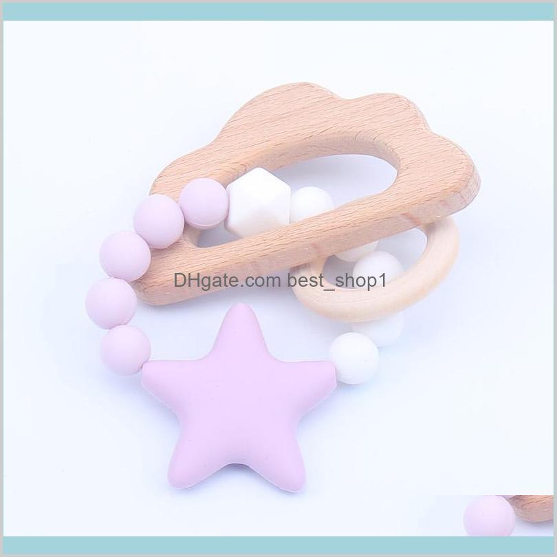 newest infant silicone star chew nursing